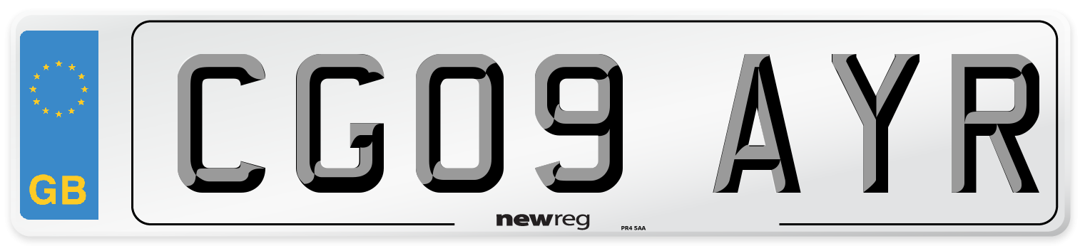 CG09 AYR Number Plate from New Reg