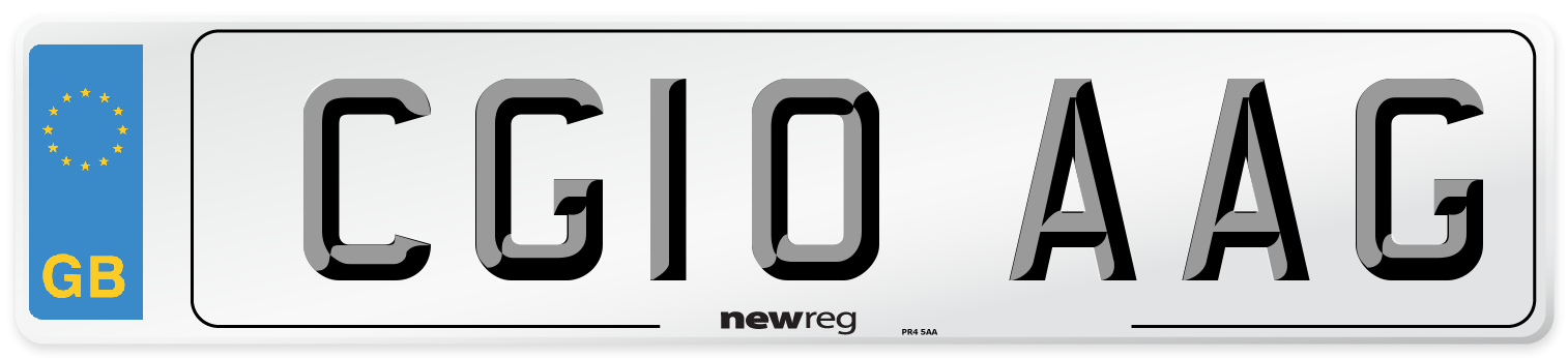 CG10 AAG Number Plate from New Reg