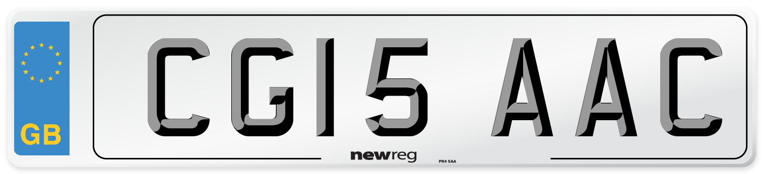 CG15 AAC Number Plate from New Reg