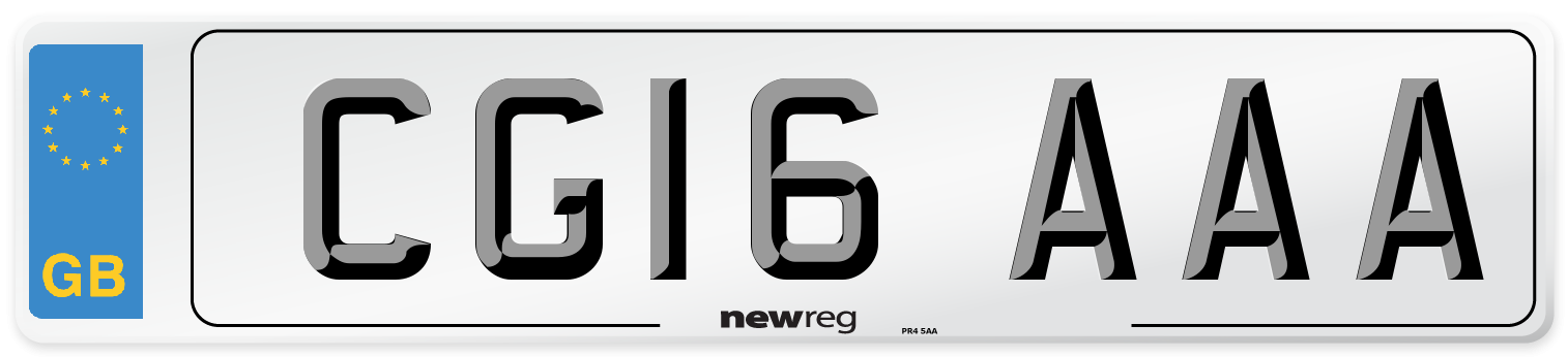 CG16 AAA Number Plate from New Reg