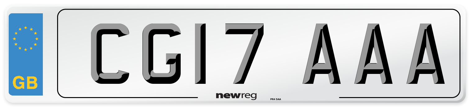 CG17 AAA Number Plate from New Reg