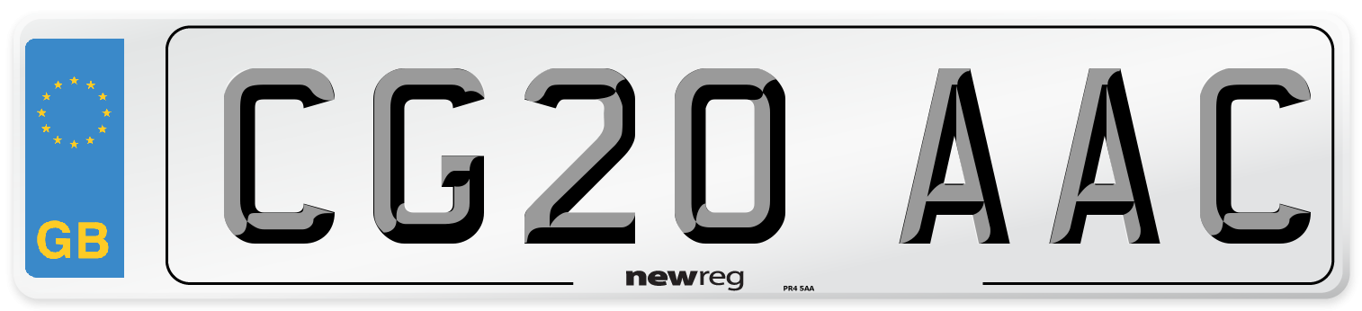 CG20 AAC Number Plate from New Reg