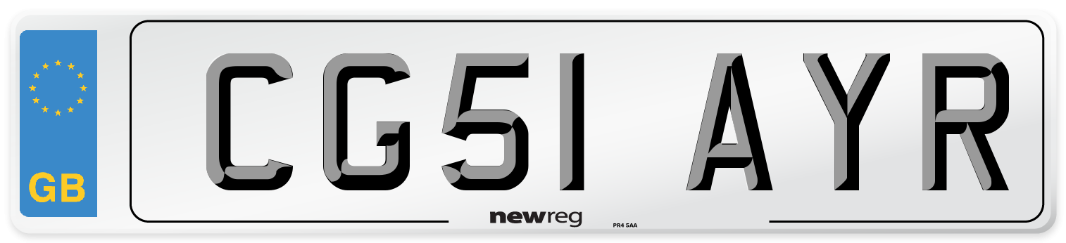 CG51 AYR Number Plate from New Reg