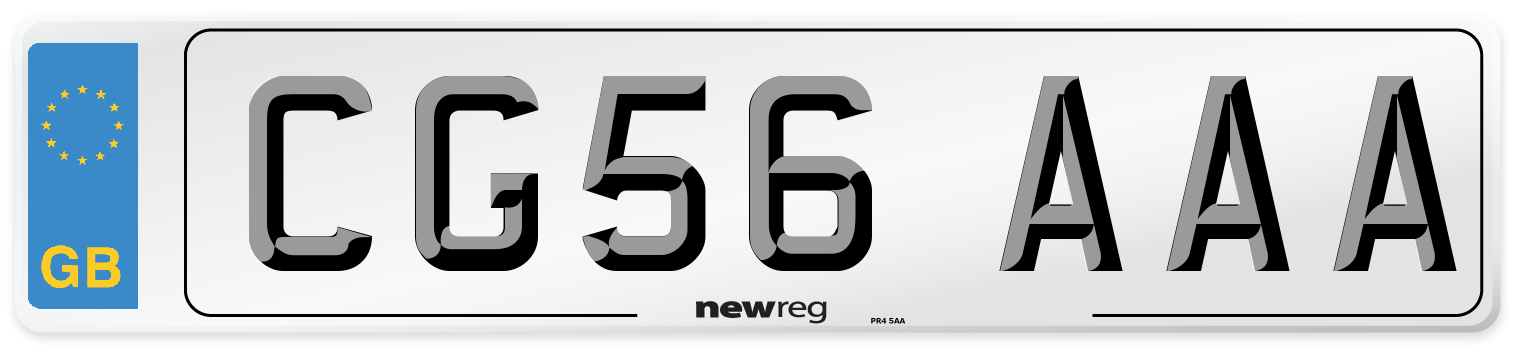 CG56 AAA Number Plate from New Reg