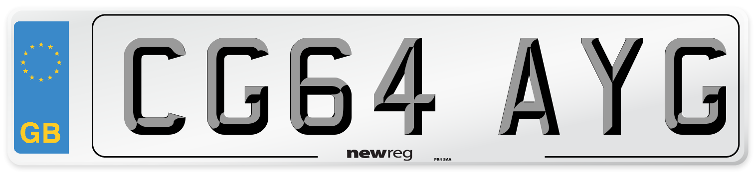 CG64 AYG Number Plate from New Reg