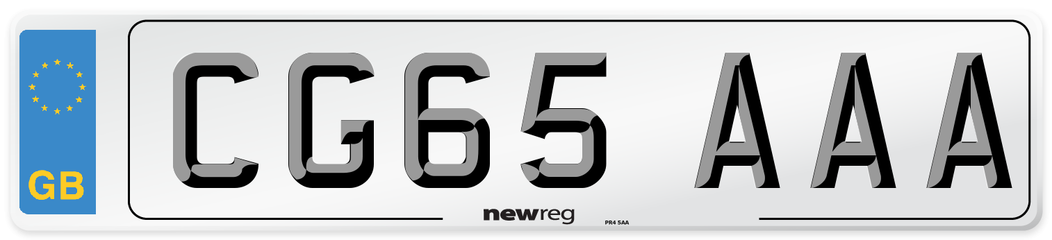 CG65 AAA Number Plate from New Reg