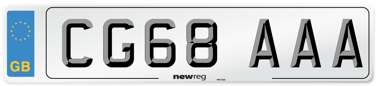 CG68 AAA Number Plate from New Reg