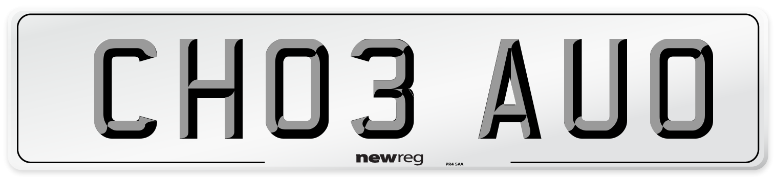 CH03 AUO Number Plate from New Reg