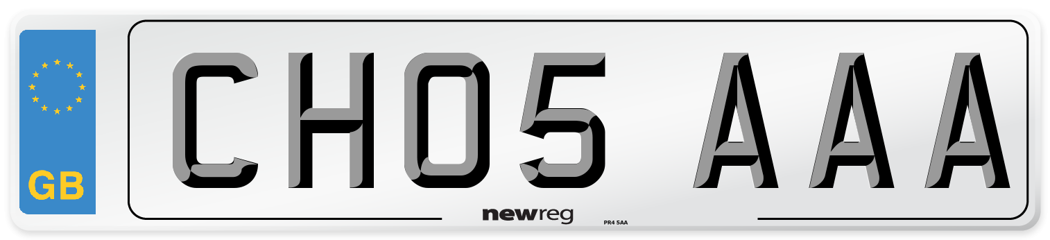CH05 AAA Number Plate from New Reg