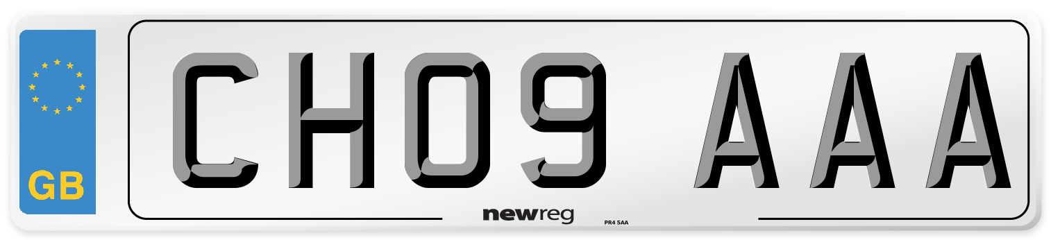 CH09 AAA Number Plate from New Reg