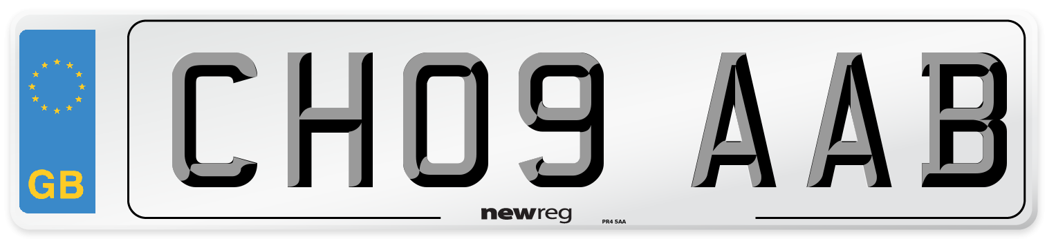 CH09 AAB Number Plate from New Reg