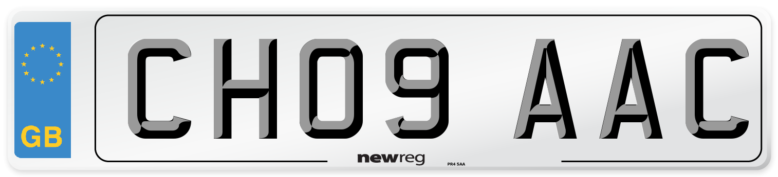 CH09 AAC Number Plate from New Reg