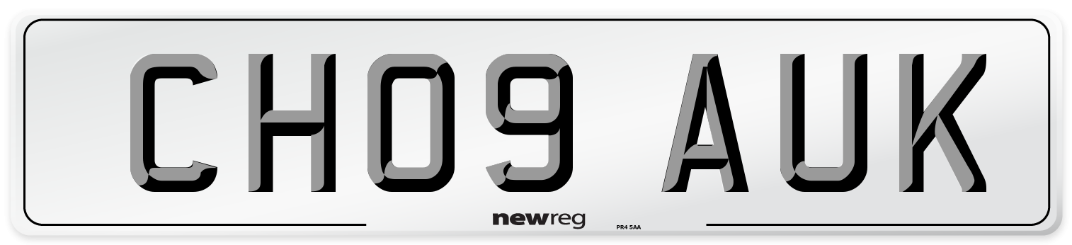 CH09 AUK Number Plate from New Reg