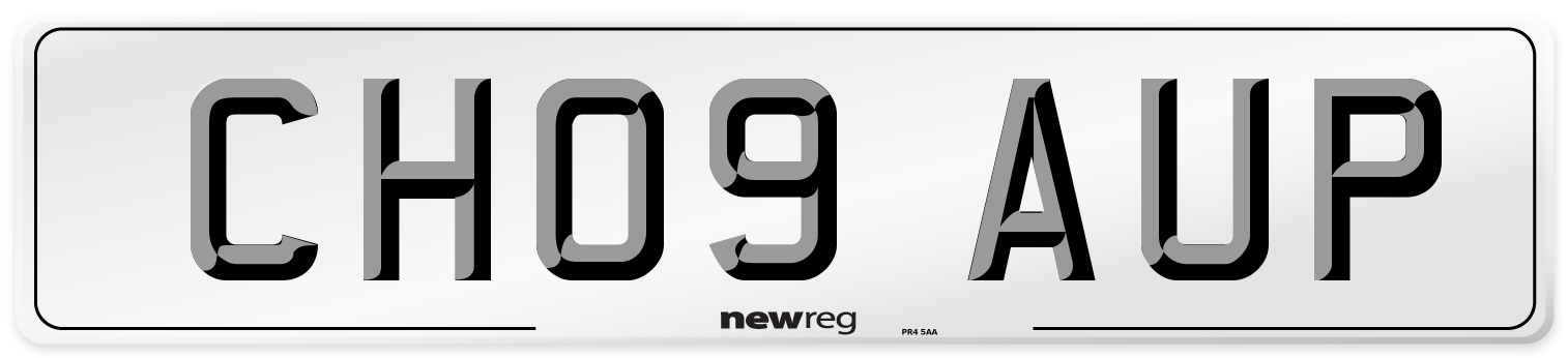 CH09 AUP Number Plate from New Reg