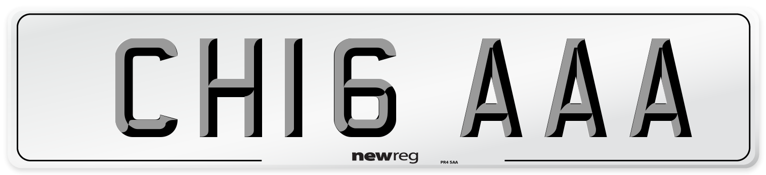 CH16 AAA Number Plate from New Reg