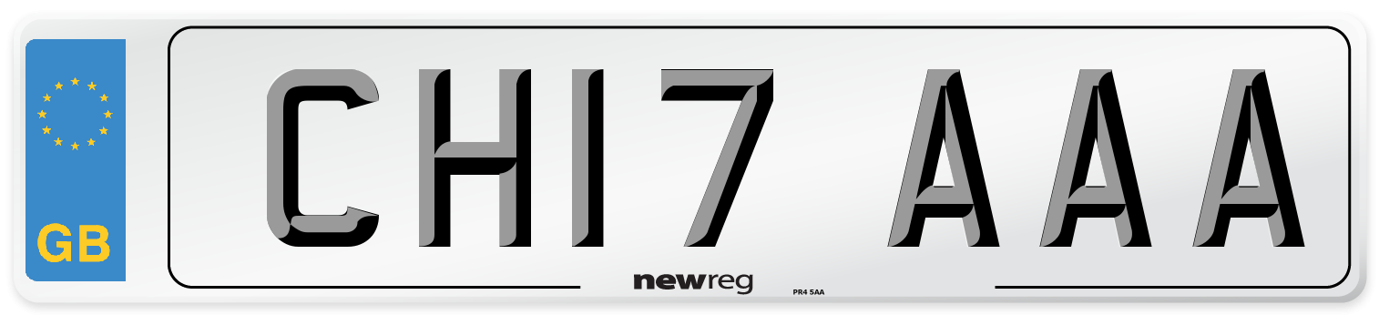 CH17 AAA Number Plate from New Reg