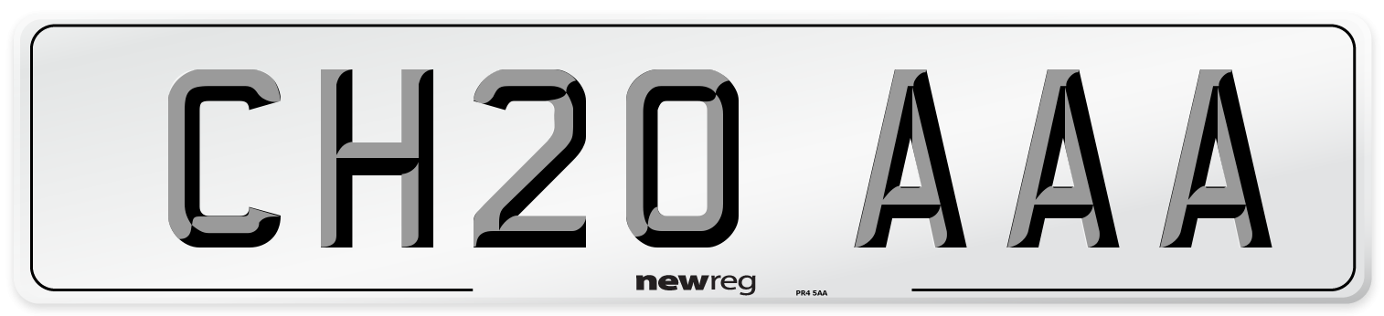 CH20 AAA Number Plate from New Reg