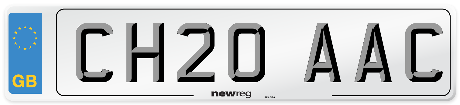 CH20 AAC Number Plate from New Reg