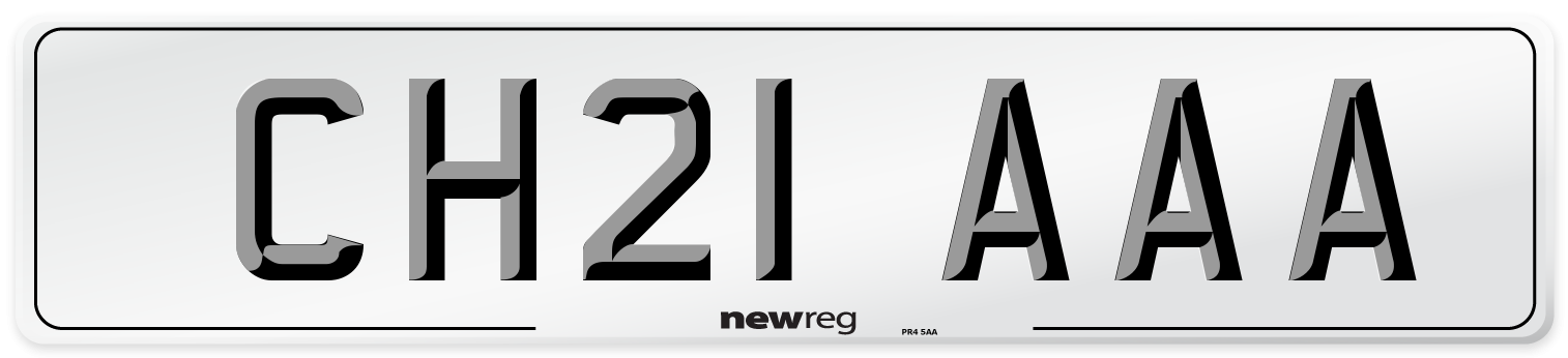 CH21 AAA Number Plate from New Reg