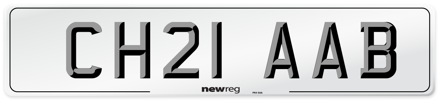 CH21 AAB Number Plate from New Reg