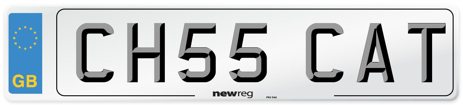 CH55 CAT Number Plate from New Reg