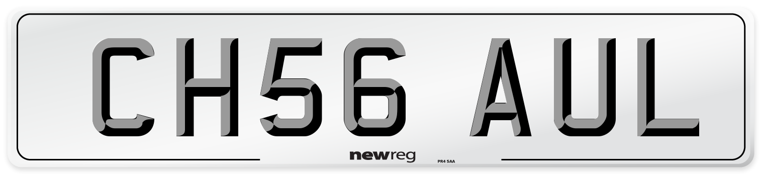 CH56 AUL Number Plate from New Reg