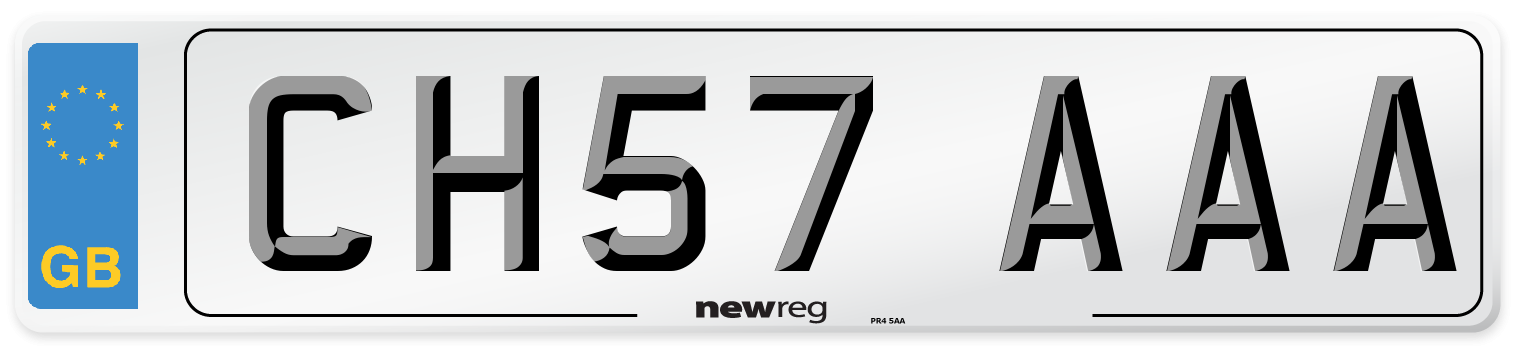 CH57 AAA Number Plate from New Reg