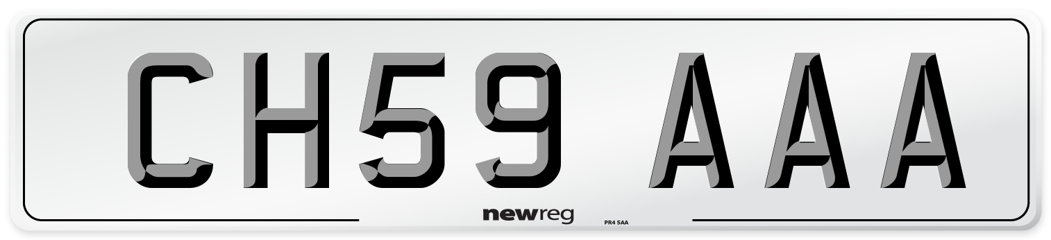 CH59 AAA Number Plate from New Reg