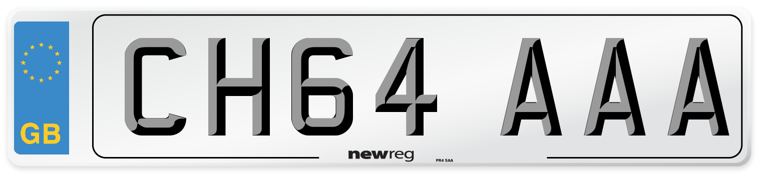 CH64 AAA Number Plate from New Reg