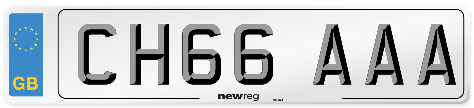 CH66 AAA Number Plate from New Reg
