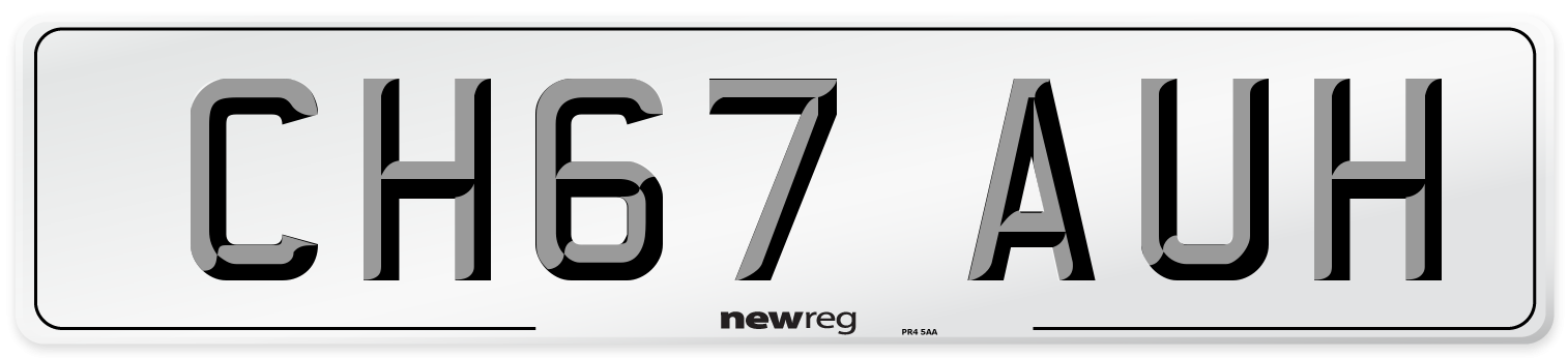CH67 AUH Number Plate from New Reg