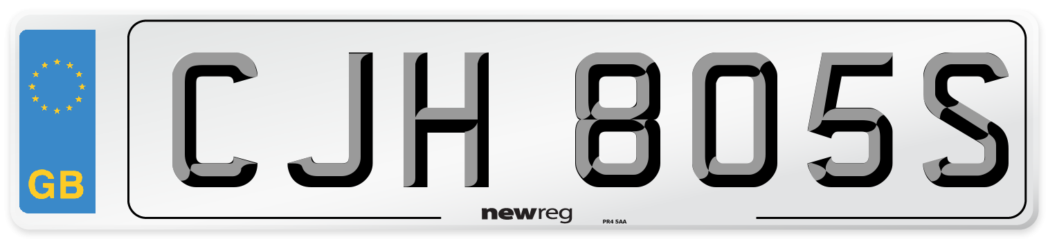 CJH 805S Number Plate from New Reg