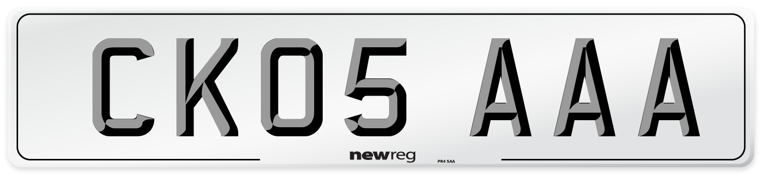 CK05 AAA Number Plate from New Reg