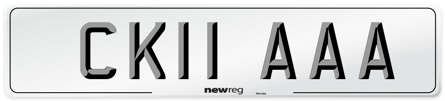 CK11 AAA Number Plate from New Reg