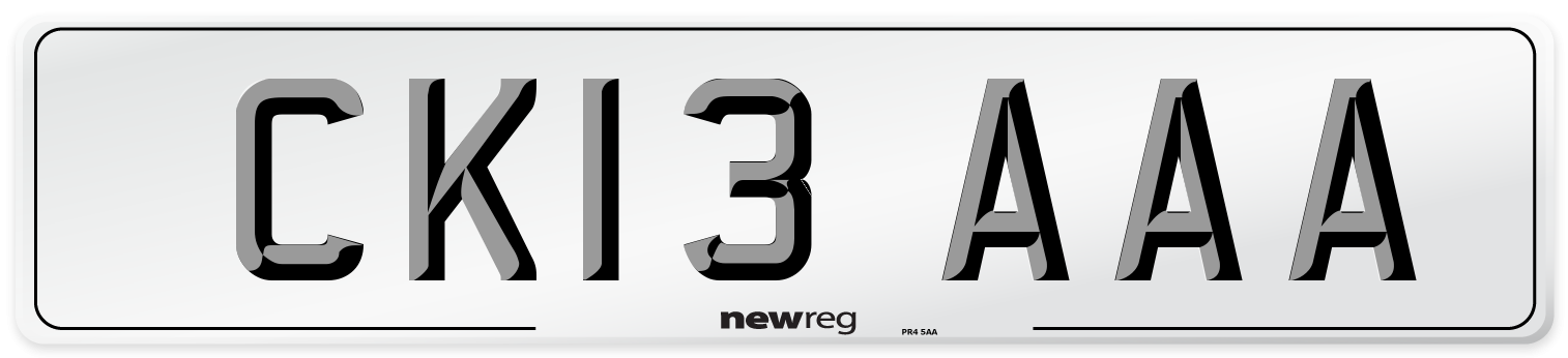 CK13 AAA Number Plate from New Reg
