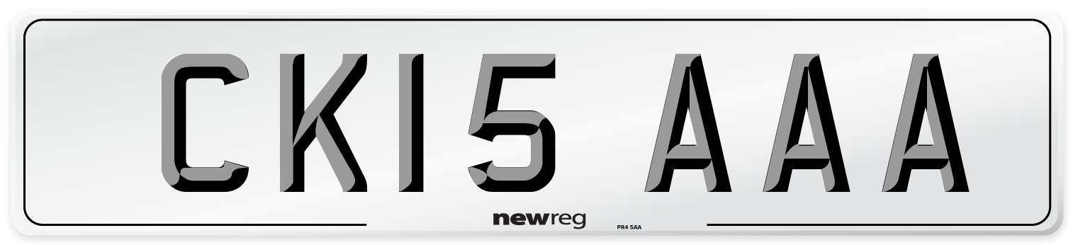 CK15 AAA Number Plate from New Reg