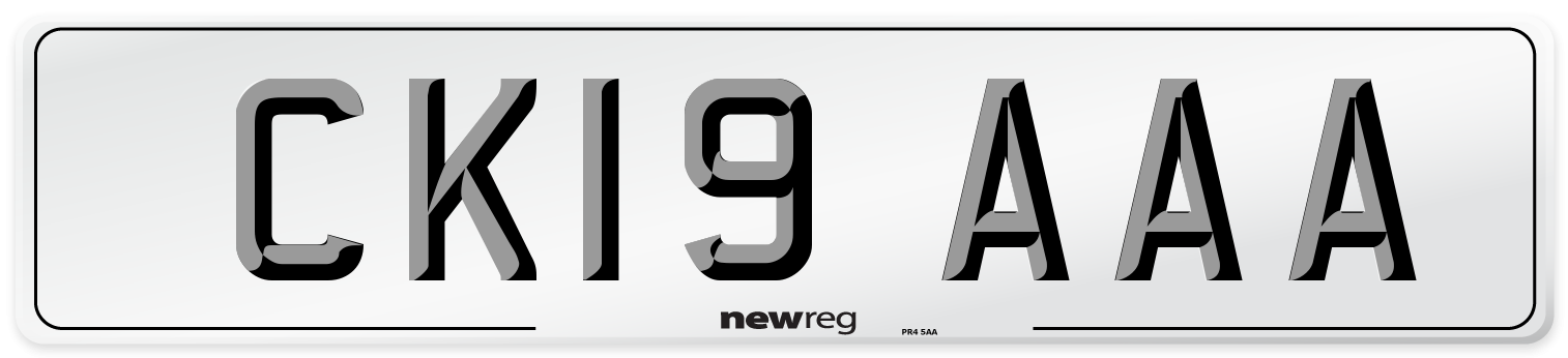 CK19 AAA Number Plate from New Reg