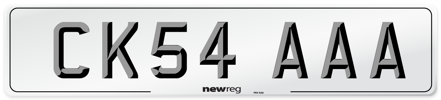 CK54 AAA Number Plate from New Reg