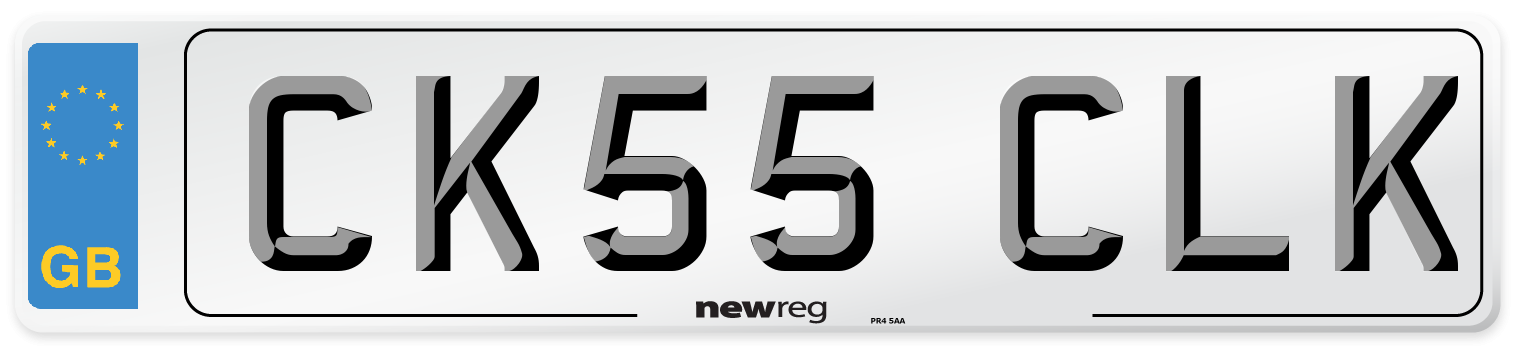 CK55 CLK Number Plate from New Reg