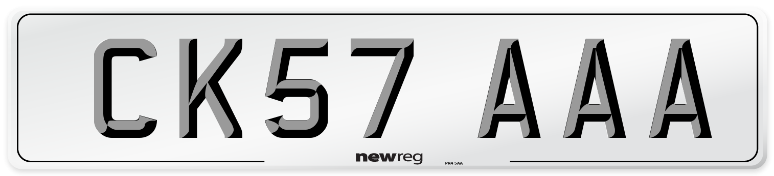 CK57 AAA Number Plate from New Reg