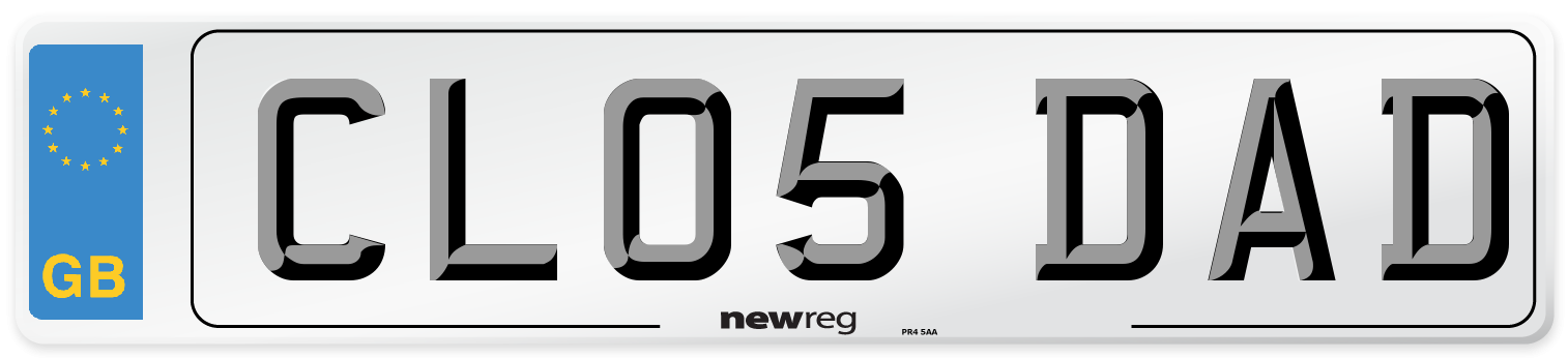 CL05 DAD Number Plate from New Reg