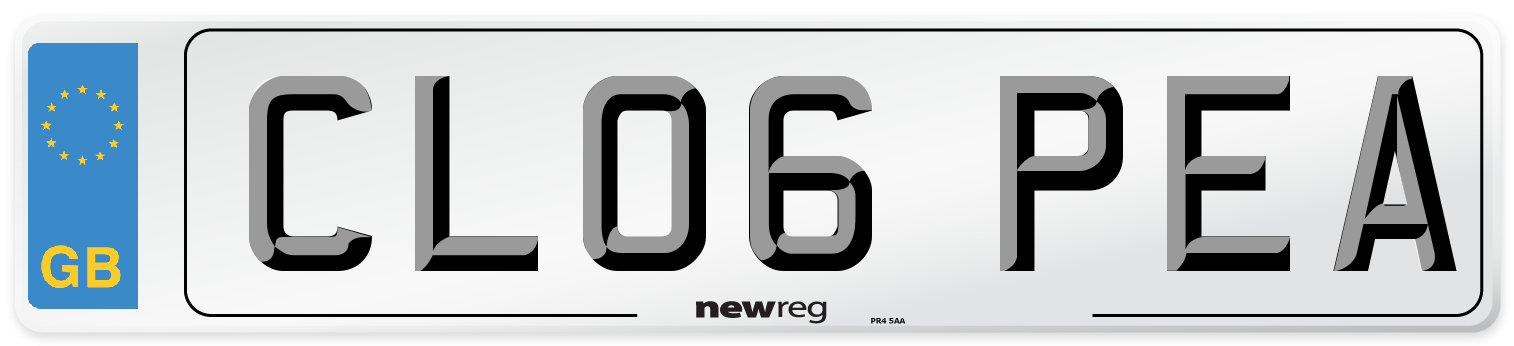 CL06 PEA Number Plate from New Reg