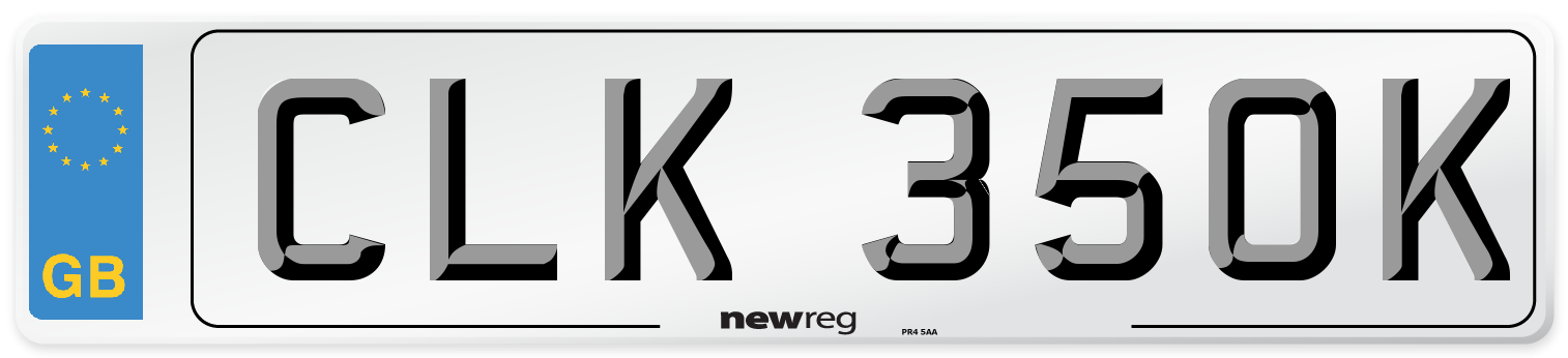 CLK 350K Number Plate from New Reg