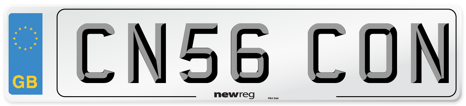 CN56 CON Number Plate from New Reg