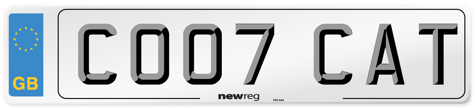 CO07 CAT Number Plate from New Reg
