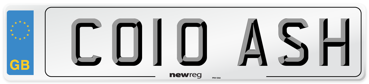 CO10 ASH Number Plate from New Reg
