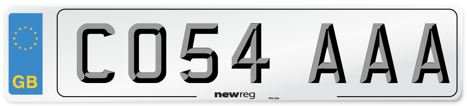 CO54 AAA Number Plate from New Reg