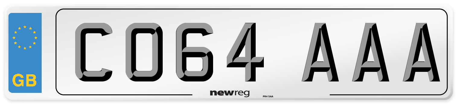 CO64 AAA Number Plate from New Reg