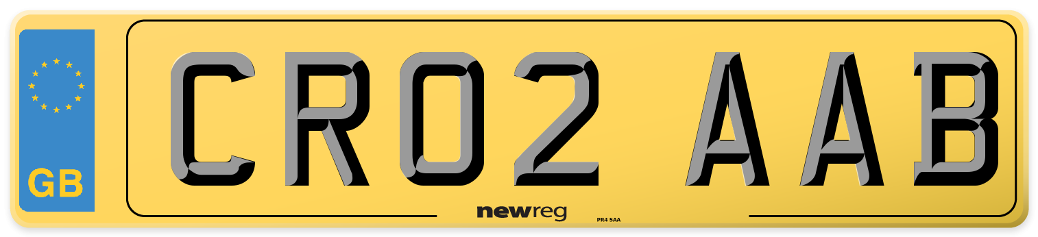 Rear Number Plate from New Reg