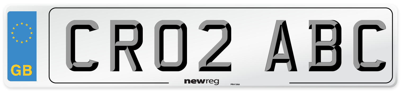 CR02 ABC Number Plate from New Reg